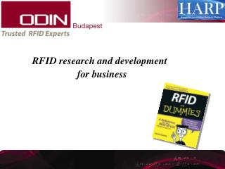 RFID research and development  		for business