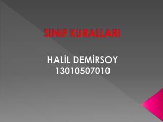SINIF KURALLARI