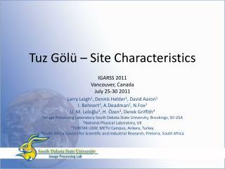 Tuz Gölü –  Site Characteristics