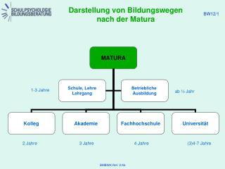 Darstellung von Bildungswegen nach der Matura
