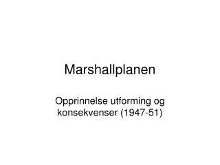 Marshallplanen