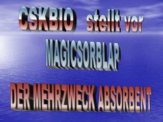 MAGICSORBLAP DER MEHRZWECK ABSORBENT