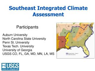 Southeast Integrated Climate Assessment
