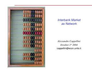 Interbank Market as Network