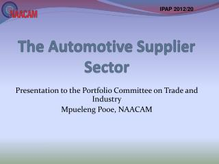 The Automotive Supplier Sector