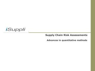Supply Chain Risk Assessments