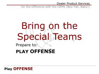 Bring on the Special Teams