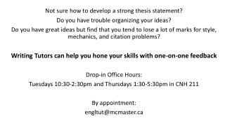 Not sure how to develop a strong thesis statement?  Do you have trouble organizing your ideas?