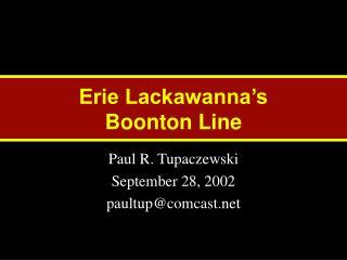 Erie Lackawanna's Boonton Line