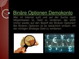 Binäre Optionen Demokonto Strategien