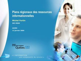Plans régionaux des ressources informationnelles