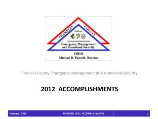 2012  Accomplishments