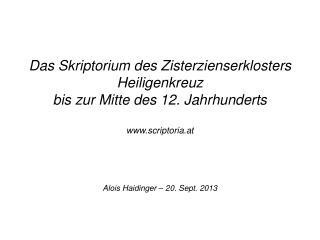 Alois Haidinger � 20. Sept. 2013