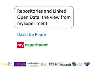 Repositories and Linked Open Data: the view from myExperiment