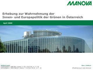 Erhebung zur Wahrnehmung der  Innen- und Europapolitik der Grünen in Österreich