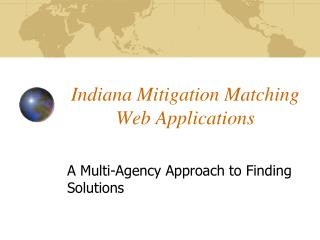 Indiana Mitigation Matching Web Applications