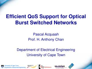 Efficient QoS Support for Optical Burst Switched Networks