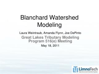 Blanchard Watershed Modeling