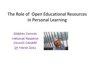 The Role of  Open Educational Resources in Personal Learning