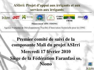ASIrri: Projet d'appui aux irrigants et aux services aux irrigants