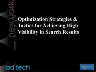 Optimization Strategies  Tactics for Achieving High Visibility in Search Results