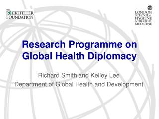 Research Programme on Global Health Diplomacy