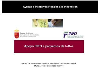 Apoyo INFO a proyectos de I+D+i.