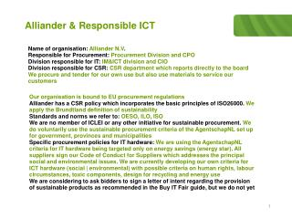 Alliander & Responsible ICT