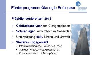 Förderprogramm Ökologie Refbejuso