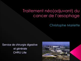 Traitement n�o(adjuvant) du cancer de l��sophage