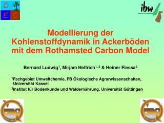 1 Fachgebiet Umweltchemie, FB Ökologische Agrarwissenschaften, Universität Kassel