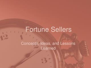 Fortune Sellers