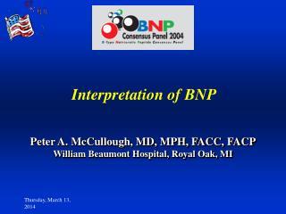 Interpretation of BNP