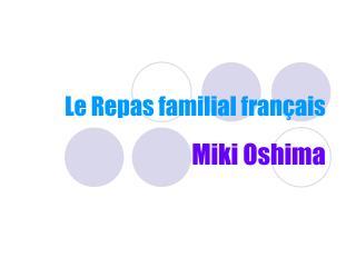 Le Repas familial français