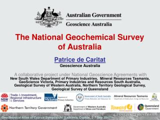 The National Geochemical Survey of Australia