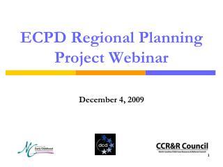 ECPD Regional Planning Project Webinar