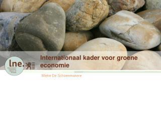 Internationaal kader voor groene economie