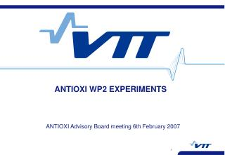 ANTIOXI WP2 EXPERIMENTS