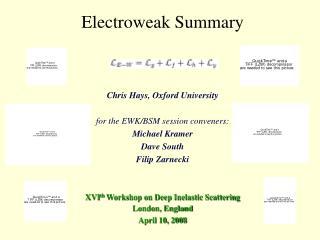 Electroweak Summary