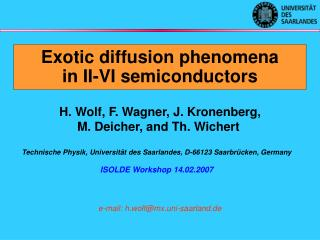 Exotic diffusion phenomena in II-VI semiconductors