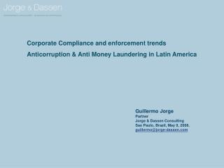 Corporate Compliance and enforcement trends