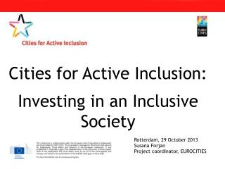 Cities for Active Inclusion: Investing in an Inclusive Society