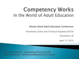 Competency Works In the World of Adult Education