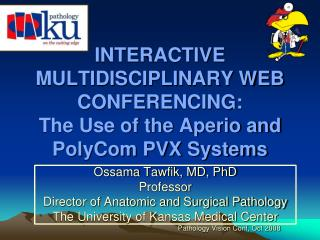 INTERACTIVE MULTIDISCIPLINARY WEB CONFERENCING: The Use of the Aperio and PolyCom PVX Systems
