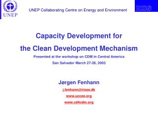 Capacity Development for the Clean Development Mechanism