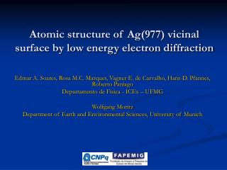 Atomic structure of Ag(977) vicinal surface by low energy electron diffraction