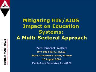 Mitigating HIV/AIDS Impact on Education Systems: A Multi-Sectoral Approach