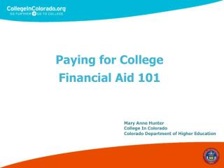 Paying for College Financial Aid 101
