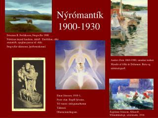 Nýrómantík 1900-1930