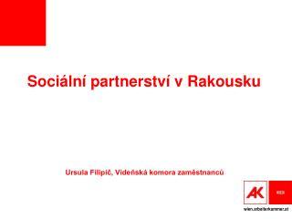Soci ální partnerství v Rakousku